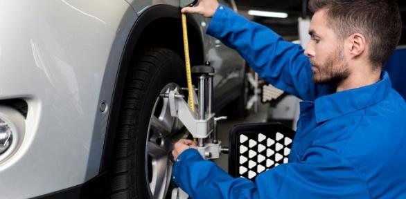 Регулировка развала-схождения осей автомобиля вавтосервисе «4колеса»