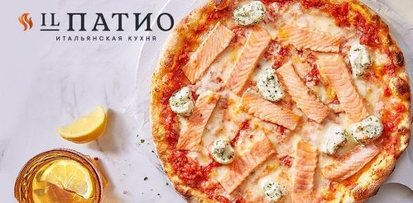 Меню кухни вресторане итальянской кухни «ILПатио» заполцены