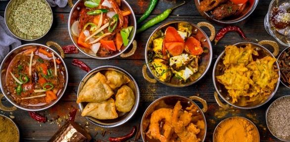 Блюда инапитки вресторане Bombay заполцены
