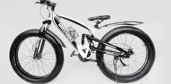 Велосипед налитых дисках Green Bike или фэтбайк