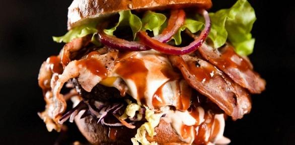 Бургер инапиток отлавки «Парень уехал» заполцены
