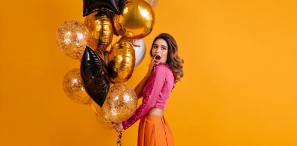 Гелиевые, светодиодные шары, шар-сюрприз или композиция извоздушных шаров
