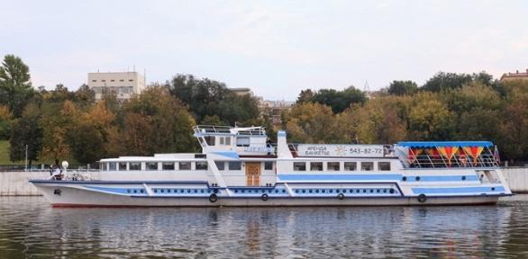 Прогулка поМоскве-реке собедом или ужином натеплоходе «Чижик-2»