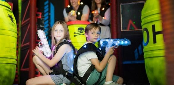 Игра вкосмический лазертаг для команды до6человек вклубе «Арена»