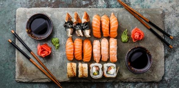 Суши-сет отресторана доставки Sushi Land заполцены