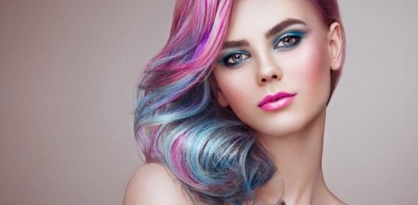 Стрижка, окрашивание волос всалоне красоты «ДаВинчи»