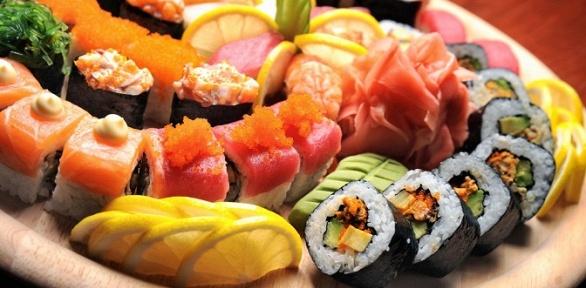 Блюда меню отслужбы доставки «Куши-Суши» заполцены
