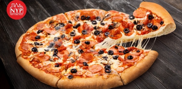 Круг пиццы навыбор отпиццерии New York Pizza заполцены