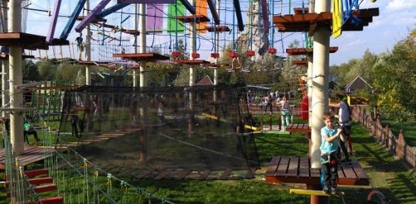 Посещение веревочного парка откомпании «Тур-Сафари»
