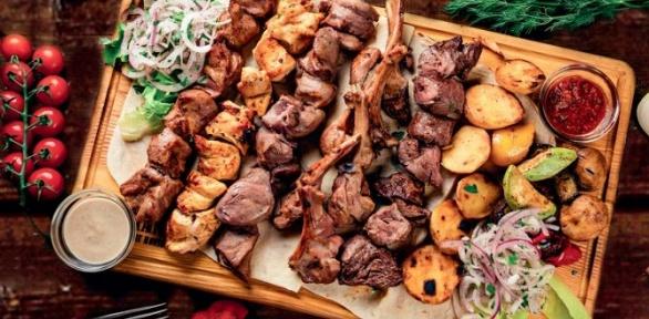 Меню кухни отслужбы доставки шашлыков Lav Kebab заполцены