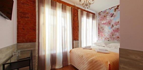 Отдых вцентре Питера водноместном, двухместном номере варт-отеле Amore