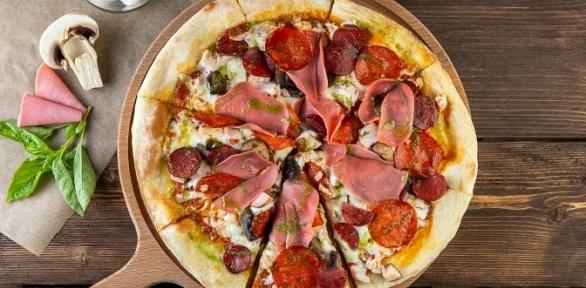 Пицца снапитками отпиццерии нового формата «Ричо»