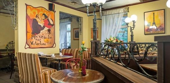 Блюда инапитки вкафе французской кухни Creperie deParis