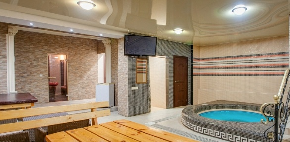 Посещение хаммама или финской бани вкомплексе Frant Hotel