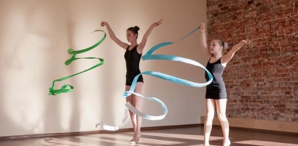 Посещение занятий похудожественной гимнастике вцентре «Юные гимнасты»