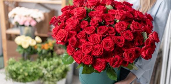 Букет изхризантем или роз выбранного размера