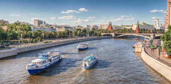 Прогулка натеплоходе поМоскве-реке отсудоходной компании Flyriver