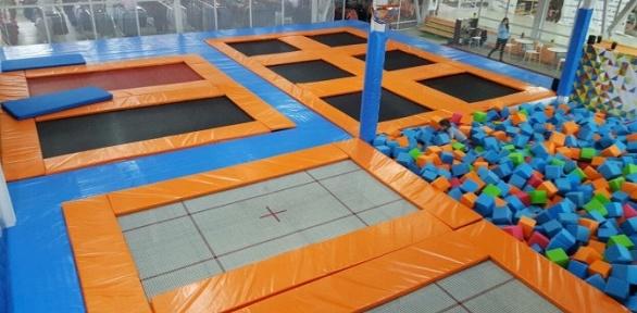 Целый день посещения батутной арены всети батут-парков «Атмосфера»