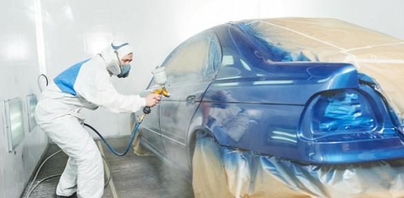 Покраска элементов автомобиля в цехе «Хамелеон»