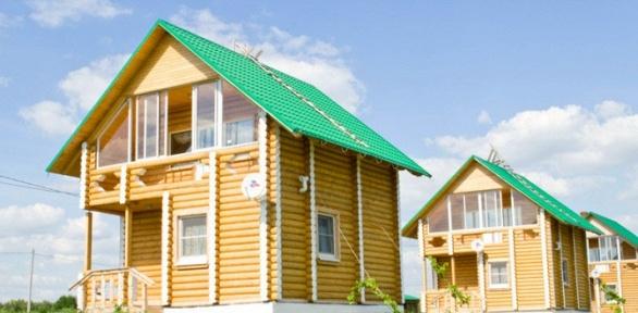 Отдых вдвухэтажном деревянном доме вэкопарке «Рождествено»