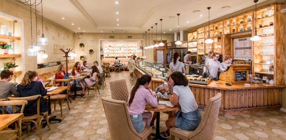 Блюда инапитки вкафе-пекарне «Бенье» заполцены