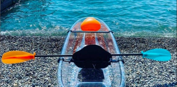 Аренда прозрачного каяка отпункта проката Sochi Kayak Club