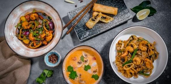 Всё меню инапитки вкафе азиатской кухни Souptown заполцены