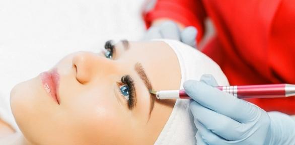 Перманентный макияж бровей, век или губ встудии красоты «Лаванда»