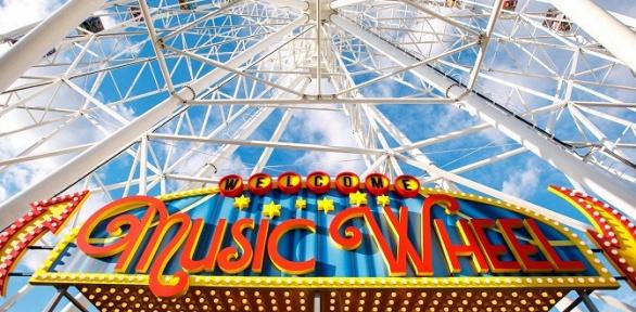 Билет накатание вобогреваемой кабине наколесе обозрения Music Wheel