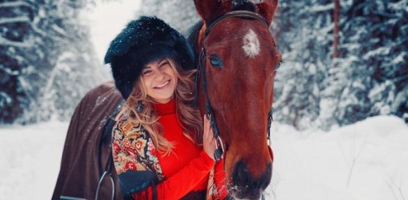 Фотосессия слошадью, конная прогулка навыбор вклубе «Усадьба Марфино»