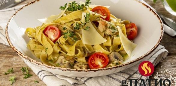 Блюда отресторана «ILПатио» заполцены