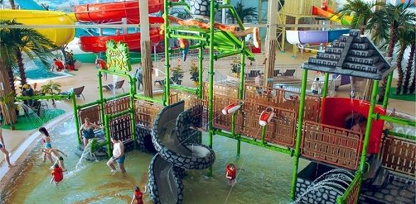 Билет надень посещения аттракционов иSPA-комплекса ваквапарке «Акварио»