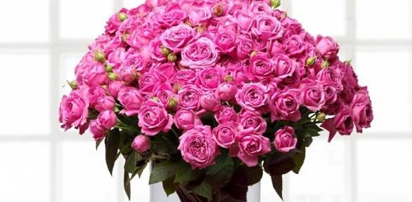 Букет изроз, гербер, тюльпанов, орхидей, хризантем, гортензий