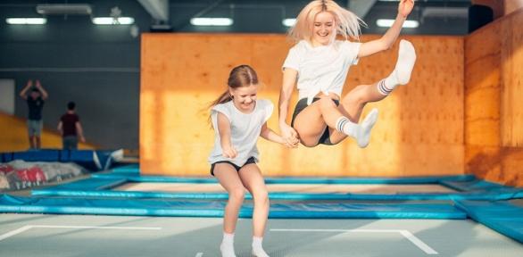 Целый день прыжков набатуте вбатутном центре «Лето»