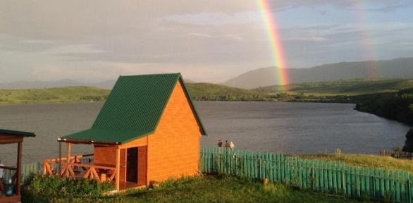 Отдых вАлтае наберегу Белого озера набазе отдыха «Дали-ВиДали»