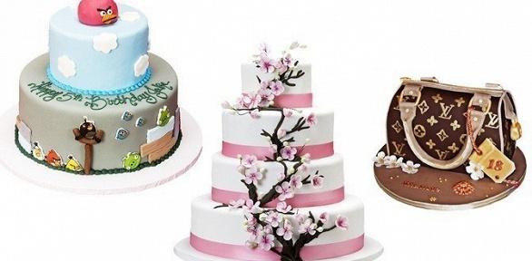 1, 2, 3килограмма торта изкаталога или пособственному эскизу заполцены