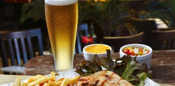 Пивной сет с закусками и напитками в баре TorTuga