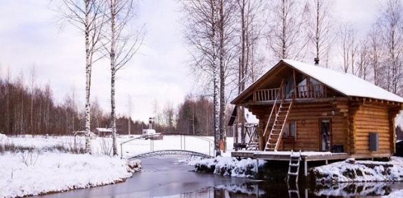 Отдых вдоме наберегу пруда вэкоусадьбе «Белово»