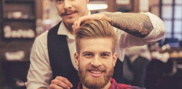 Мужская стрижка, моделирование бороды вэстетик-центре «Княжна Дарья»