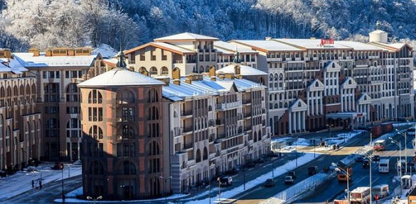 Отдых вКрасной Поляне вапартаментах отеля «Горки Город»