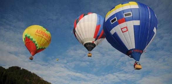 Полет навоздушном шаре свручением грамоты откоманды «Три короля»