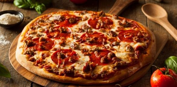 Пицца сдоставкой откафе «Академия Pizza» заполцены