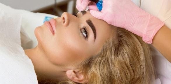 Перманентный макияж бровей, век или губ всалоне красоты «Оливка»