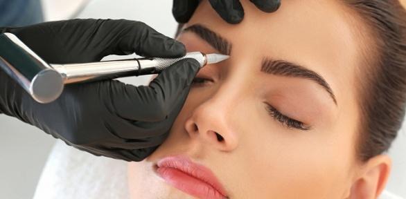 Перманентный макияж бровей, век или губ всалоне «Оливка»