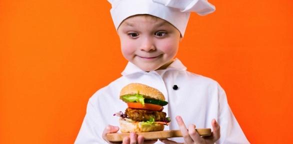 Детский мастер-класс поприготовлению пиццы или бургеров вкофейне FatCat