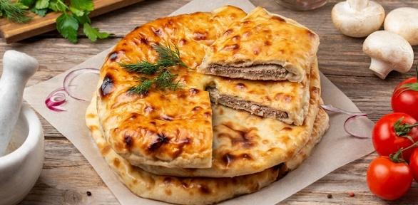 Сет изпицц, осетинских пирогов отслужбы доставки «Ласточка»