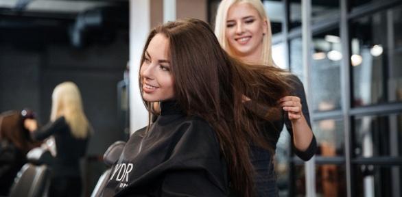 Окрашивание Airtouch, стрижка волос всалоне Crown