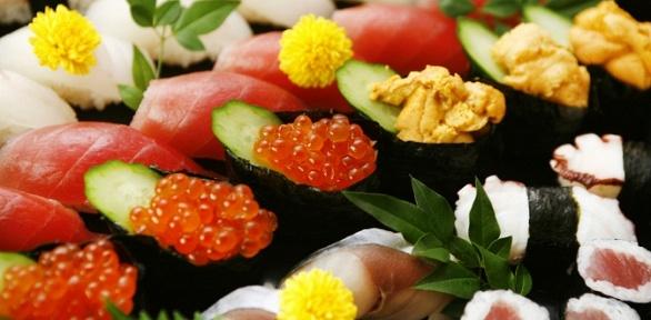Всё меню японской кухни отслужбы доставки NSLounge Samara заполцены