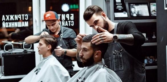 Мужская стрижка, оформление бороды вбарбершопах Men