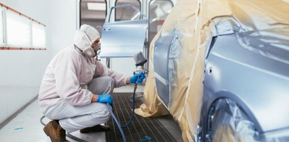 Покраска деталей автомобиля вавтосервисе MIB